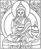 Maitreya appears to Asanga
