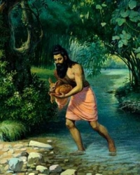 Bharata saves baby Doe