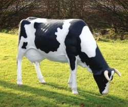Grazing Cow Statue