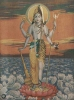 God appears as half Shiva and half Vishnu