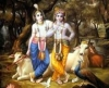 Krishna Balarama and a forest monster