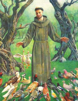 Saint Francis of Assisi with the Birds
